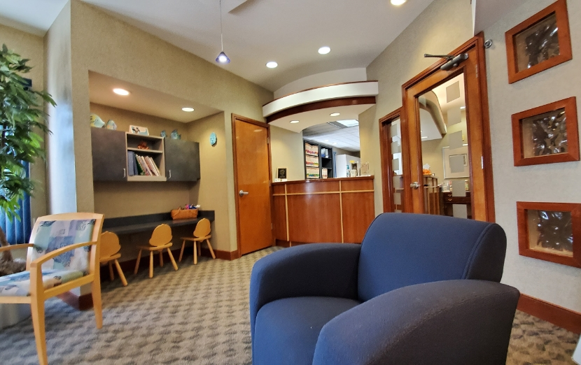 Reception area of Mick Family Dental Care